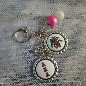 AKA sorority keychain